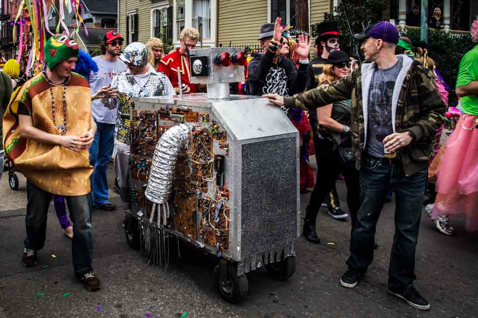 Mardi Gras parade in The Marigny