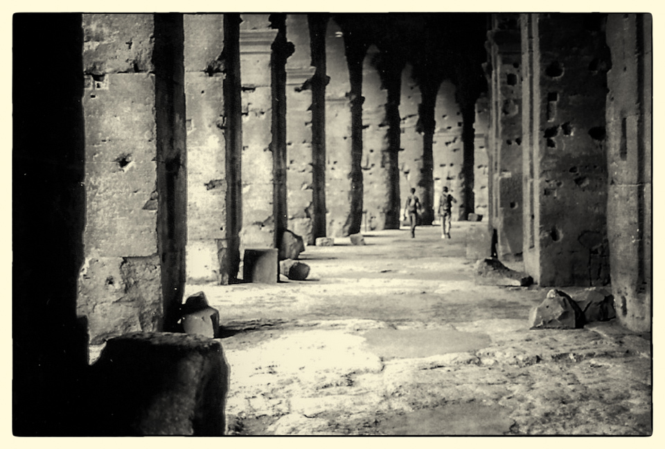 An arcade of the Colosseum, Rome