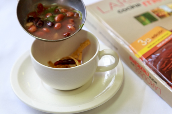 Mexican food bean soup