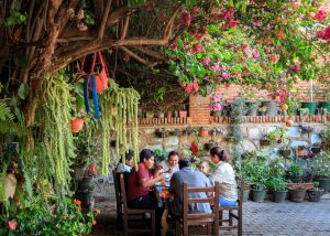 Outdoor dining in Oaxaca